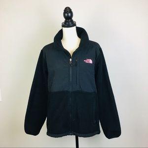 The North Face Women Denali Jacket Black Pink